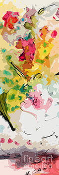 Ginette Callaway - Floral Abstract Decorative Tall Modern Art