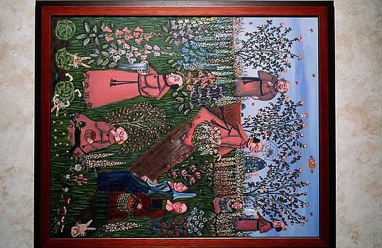 Floral monks by Carol Shumas