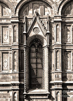 Gregory Dyer - Florence Italy - Duomo Stained Glass - 02 - sepia