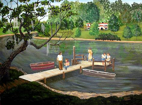 Florida Fishing 1950 by Susan Kubes