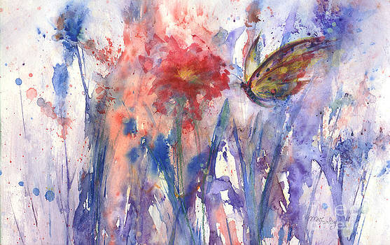 Flower and Butterfly by Maureen Ida Farley