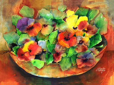 Flower Bowl by Arline Wagner