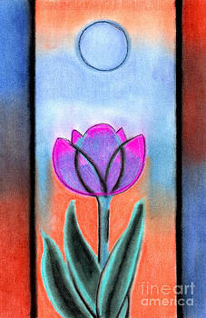 Flower With Blue Moon by Christine Perry