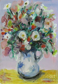 Flowers in a Jug by David Abse