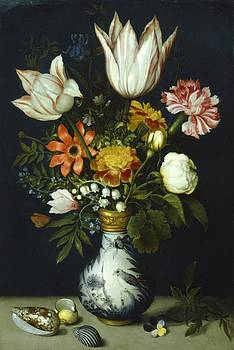 Flowers In A Vase Painting by Photos.com