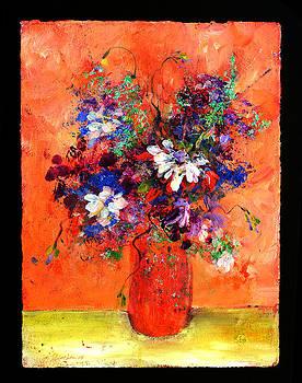 Flowers in orange by Johanna Littleton