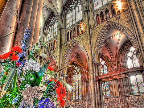 Flowers York Minster - HDR by Colin J Williams Photography