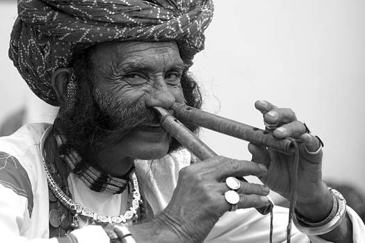 Flute Player from India by Karan Anand
