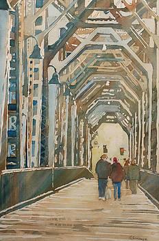 Jenny Armitage - Foggy Morning on the Railway Bridge One