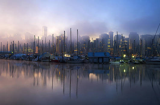 Foggy Vancouver morning by Marlene Ford