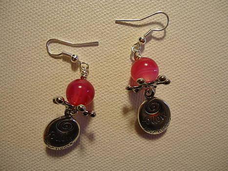 Follow Your Heart Pink Earrings by Jenna Green