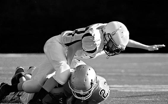 Football in Black and White by Susan Leggett