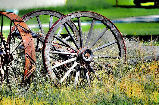 Forgotten Wagon Wheel by Sarai Rachel
