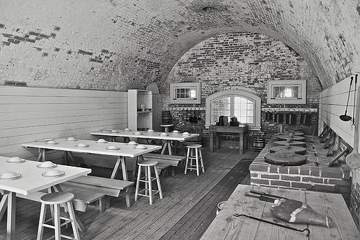 Michael Peychich - Fort Macon Mess Hall BW 9078