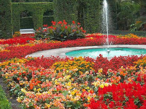 Fountain Garden by Liliana Ducoure