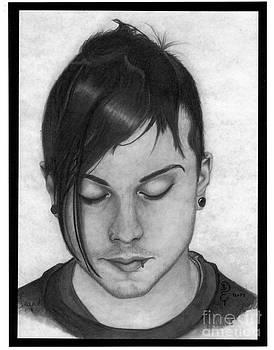Frank Iero 1 Pencil Drawing by Debbie Engel