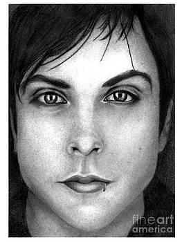 Frank Iero 2 Pencil Drawing by Debbie Engel