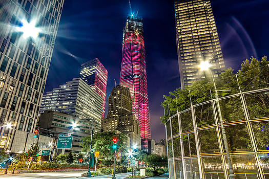 Freedom Tower from West Side Highway. by Val Black Russian Tourchin