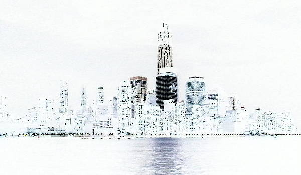 Freedom Tower Negative by Lewis Mengersen