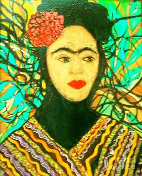 Frida with matte face by Viva La Vida Galeria Gloria