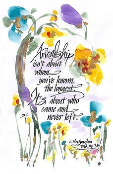 Friendship by Darlene Flood