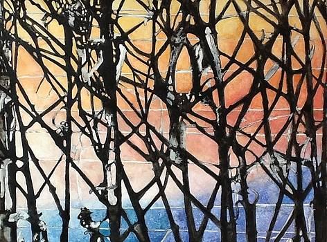 Frosty Vineyard Sunrise by Caron Sloan Zuger
