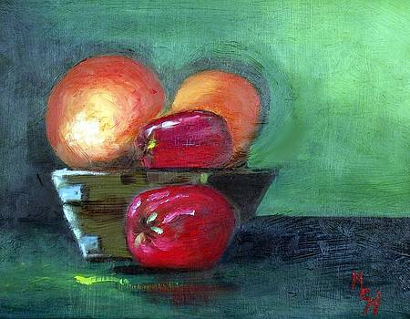 Fruit in a Bowl by Margaret Harmon