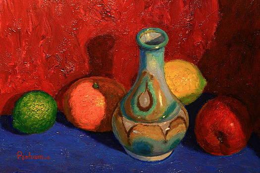 Terry Perham - Fruit With Ceramic Vase