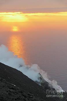 Sami Sarkis - Fumaroles smoke from Stromboli Volcano