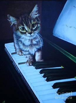 Furry Pianist by Joanna Marouli