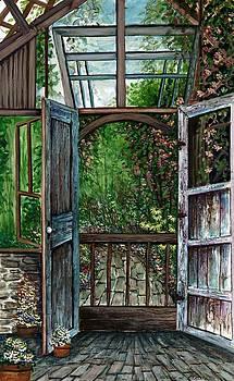 Garden Backyard by Steven W Schultz