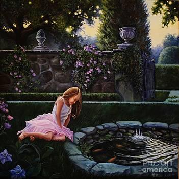 Garden Dusk by Hillary Scott
