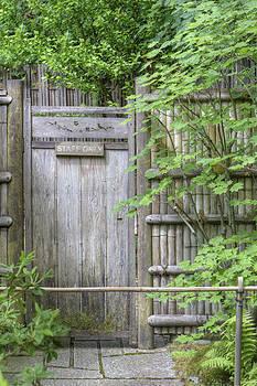 Garden Gate A Wooden Gate In Japanese by Douglas Orton