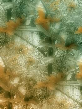 Garden Reverie In Green One by Lynn De Serres