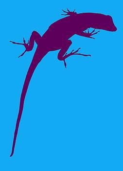 Ramona Johnston - Gecko Silhouette Purple Blue