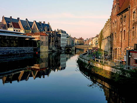 Gent by Blue Curtain