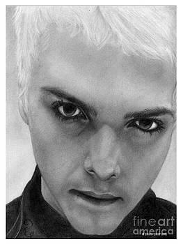 Gerard Way 9 Pencil Drawing by Debbie Engel