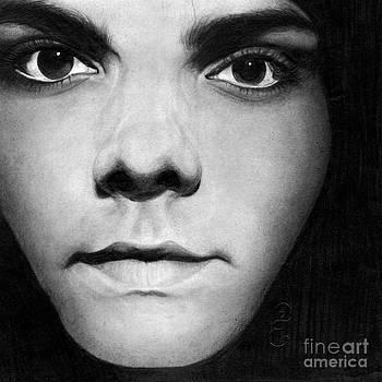 Gerard Way no11 Pencil Drawing by Debbie Engel