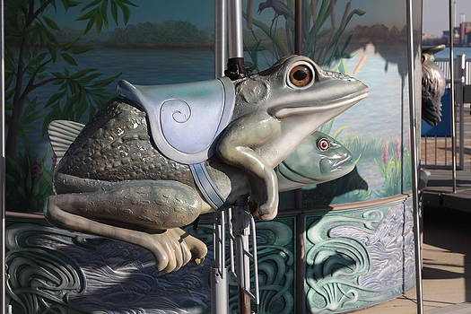 Jim Vansant - Giant Frog Seat on Carousel