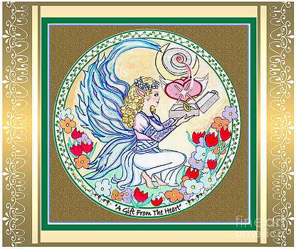 Gift Fairy with Scroll Border by Joyce Jackson
