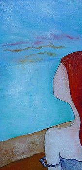 Ginger hair girl looking by Gioia Albano