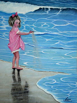 Girl at beach #1 by Chris Law