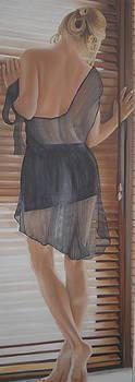 Girl At Window by Karen Longden-Sarron