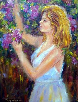 Girl in Lilac Garden by Holly LaDue Ulrich