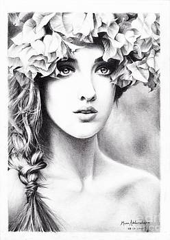 Girl with a floral crown by Muna Abdurrahman