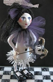 Girl With Her Puppet by Cathi Doherty