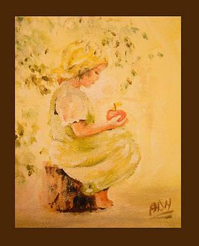 Girl's apple by Nicu Alina