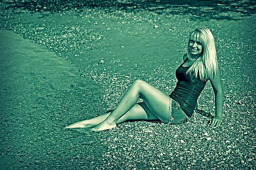 Glamour on a Rocky Beach by Charles Benavidez