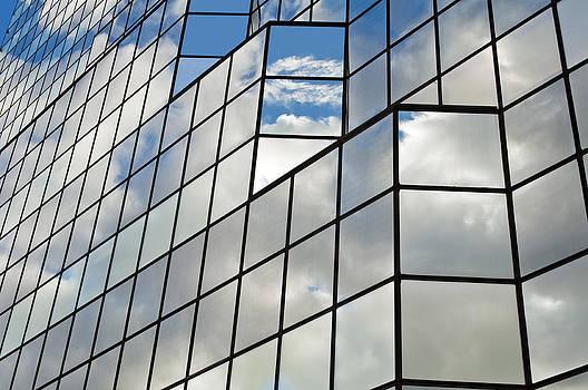 Glass office building. by Fernando Barozza