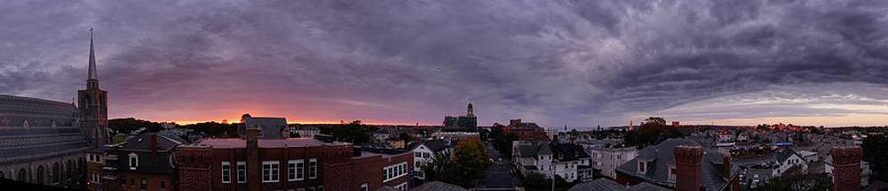 Gloucester sunrise panorama by Matthew Green